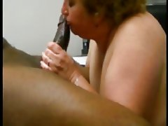 white bbw milking cum out of a BBC