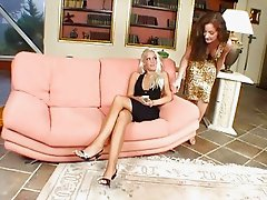 Big titted lesbo bitch gets her fanny eaten out