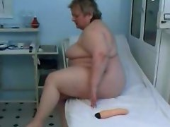 61 years Granny Toying in doctors office