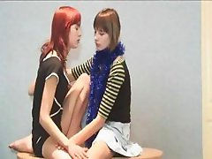 Shy french girlfriends on the floor