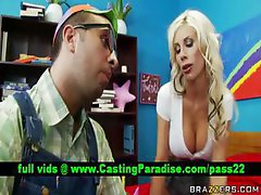 Puma Swede busty blonde teasing guy