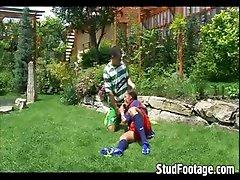 2 gay soccer players fucking hard