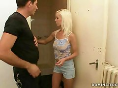 Pretty blonde getting punished