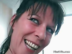 Slutty MILF brunette exposes her pussy part6