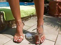 Beautiful Sandy showing off her pretty feet