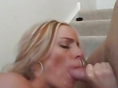 Cum lover Armani Knight receives a hot flow of cock juice on her sweet mouth