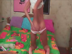 Hot live show of beautiful estonian girl