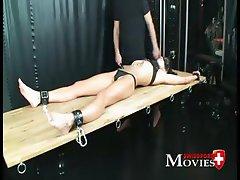 Swiss Pornstar Amanda Jane 18j. in chains - perverse games in Dark Room