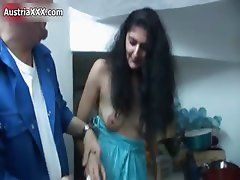 Nasty brunette slut goes crazy licking part4