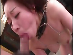 She takes both cocks in her asian mouth before sitting on them