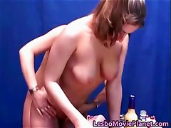 Hot lesbian threesome with sexy horny part5