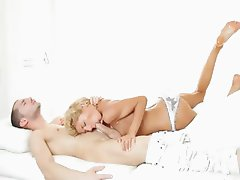 sleek blonde Stephanie banged by lover