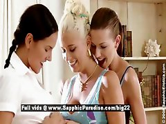 Iris and Deny and Juliette from sapphic erotica lesbo girls undressing