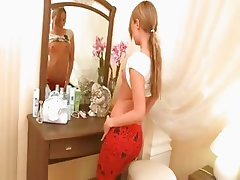 blond teen Ivana waiting for a friend