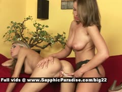 Dominika and Zara stunning lesbian girls toying