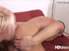 Blonde in Bisexual Cock Sharing