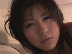 Teen Kyouka Mizusawa busty asian blowjob leads to sex