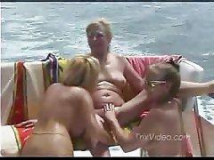 mature lesbians on a boat