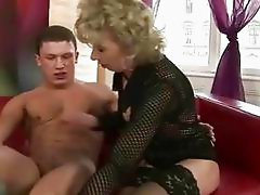 Mature blonde enjoys hard sex