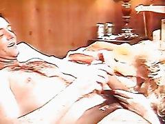 Blonde Eating Loads Of Fresh Spe...