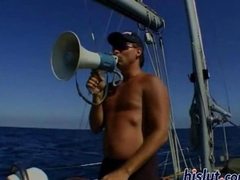 Multimillionaire fucks two babes on his yacht