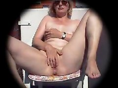 Balkony masturbation