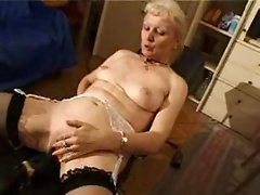 french shaved blonde granny pt7