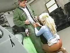 blonde granny fucked in garage