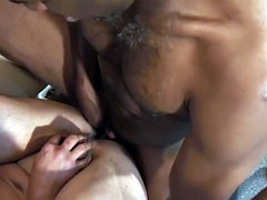 sucking white guy sucking black dong