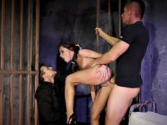 sub slave dominated in threesome