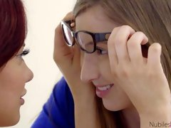 Two gorgeous teens Gracie Green and Sabina Rouge are fucking with toys