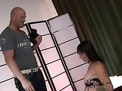 Splendid anal for a horny young short-haired shemale brunette queen