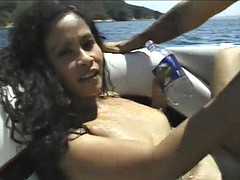 dirty bitch gets fucked on a fuckin' boat!