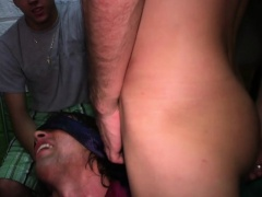 Hazed frat facialized and sucking cock