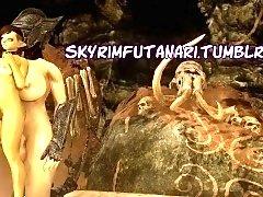 Big breasted beauties satisfying their futanari lust in 3D