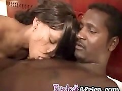 Amateur black waitress exploited by nasty big black cock guest POV style