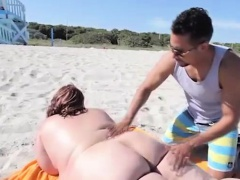 Dude massages a naked fat gal