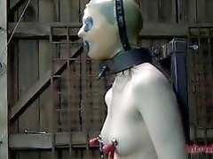 Slave slut all banged up awaits more pain BDSM porn