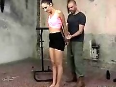 Miky Love struggles while tied up and whipped hard BDSM