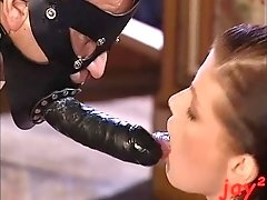 latex suits and double dildo (jean pierre armand)