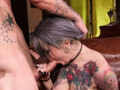 Goth whore gets pounded