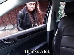 Victoria grants the stranger a blowjob