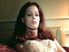 Hot retro milf feels horny from stroking her hairy pussy and goes to her lover