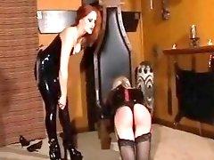 Dominant mistress tgirl makes her moan