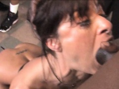 Lusty Cecilia Vega wrecked by black guys massive cock