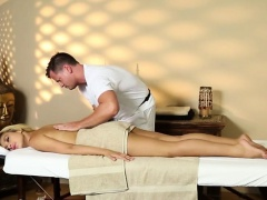 Poor customers banged and copulated on massage table