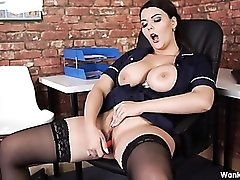 Slut fucks her dildo and gives sexy JOI to get you off