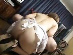 Sensual Japanese babe drops her panties and buries a dick i