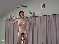 Rotation pole pussy in use
