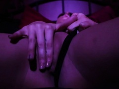 Electrosex submissive spanked with belt